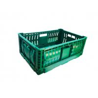 China Stacking Custom Plastic Storage Crate Folding Vegetable Storage Basket on sale