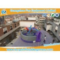 Purple 5m Dia Joust Inflatable Sport Games Competitive Fighting Arena Eco Friendly Manufactures