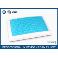 China Antibacterial Comfort Revolution Cool Gel Memory Foam Pillow For Summer , Queen Size on sale