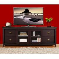 Dark Wood MDF TV Stands Furniture With Media Storage Shelf / Veneer Surface Manufactures