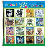 F13-218 32GB 218 in 1 218 in one Multi games Card for DS/DSI/DSXL/3DS Game Console Manufactures