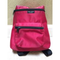Kate Spade Red & Black Nylon Zippered Backpack youngstown backpack  yoke backpack  zipper backpack  zion backpack  zippe Manufactures
