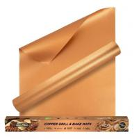 Fireproof High Temperature Tape Non - stick Charcoal PTFE BBQ Grill Mat in Copper Color Manufactures