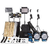 6 Lights LED Video Light Kit , Continuous Lighting For Video M18 HMI Light Head Manufactures