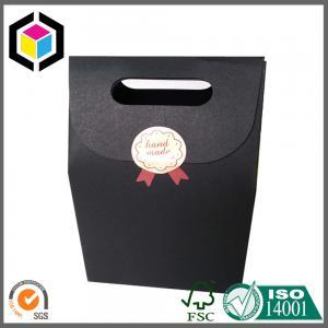 Black Cardboard Paper Bag; Gift Packaging Bag; Black Paper Bag; Velcro Close Bag Manufactures