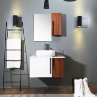 White Wood Color Bath Vanity With Top , Eco Friendly Traditional Bathroom Vanity Manufactures