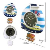 Lovely bear design wall clock for bedroom decoration Manufactures