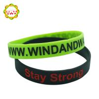 Colorful Customized Silicone Bracelet, Eco-Friendly Durable Silicone Wristbands For Gift Manufactures