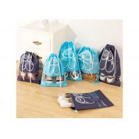 Polyester Drawstring Shoe Bags Promotional Custom Printed For Easy Travel Manufactures