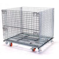 Stacking Wire Mesh Pallet Containers Stainless Steel Collapsible Wire Basket Manufactures