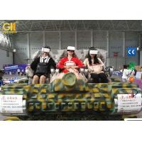 Camouflage 6 Seater Electric VR Tank Simulator / 9D Adventure Extreme Cinemas Manufactures