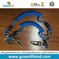 China Good Strong Carabiner Lock Coiled Lanyard Tether Protect Tools on sale