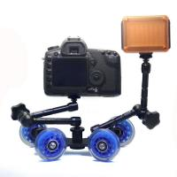 Table Top Compact Dolly Kit Skater Wheel Truck for DSLR Camera Video Monitor   Manufactures