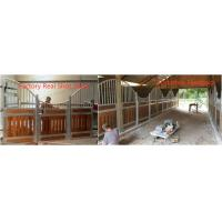 Strand woven carbonized classic bamboo equine horse shed stall with tube wire Manufactures
