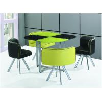 China modern metal tempered glass Dining Table on sale