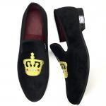 Luxury Mens Velvet Loafers Velvet Upper - Genuine Leather Type Round Toe Shape Manufactures