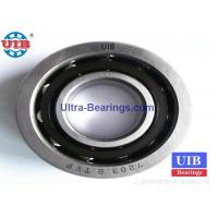 AISI 52100 Steel Angular Contact Bearings , 7203B TVP P4 Engraving Machine Bearing Manufactures