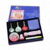Stamping Nail Art Kits, Includes 3pcs Special Nail Polish and One Polish Remover Pen Manufactures