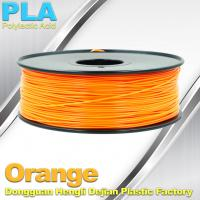 Biodegradable Orange PLA 3d Printer Filament  1.75mm Materials For 3D Printing Manufactures