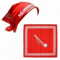 Square Bandanas, Made of 100% Cotton Manufactures