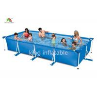 China Gaint Family Stainless Steel Frame Inflatable Swimming Pools Backyard Fun on sale