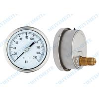 Stainless steel 100mm back pressure gauge liquid filled sealing type with tube Manufactures