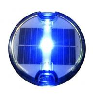 China embedded solar led road stud with blue LED light and continus working type on sale