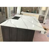 Italian Calacatta Marble Countertops Honed / Flamed Finish Way Manufactures