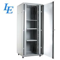 China Cold Rolled Steel Network Server Cabinet 18 - 47U Height With Tempered Glass Front Door on sale
