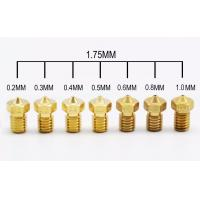 Buy cheap 3D Printer Accessories Full Metal M6 threaded nozzle 0.2/0.25/0.3/0.4/0.5/0.6/0.8/1.0mm for 1.75mm and 3.00mm filamnet from wholesalers