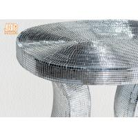 Oval Top Silver Mirror Mosaic Glass Table / Pedestal Manufactures