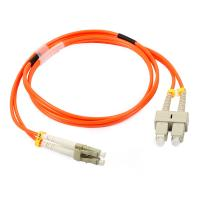 China LC Duplex Multimode Fiber Optic Patch Cord with 3.0 fiber optic cable on sale