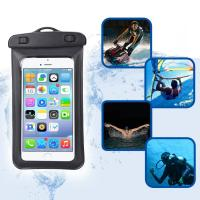 Amphibious Floatable Waterproof Phone Pouch Bag With Lanyard and Armband Strap For Swimming / Running Manufactures