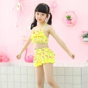 China Baby Girls Two Pieces Bikini Set  Swimwear Beach Swimsuit Swimming Suit for Children on sale