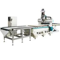 4x8ft 2 Station And 2 Process Small Cnc Router Machine With Row Drilling Machine Manufactures
