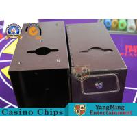 China Customized Deluxe Metallic iron Cash Box Texas Hold'em Poker Table Cash Drop Carrier Tip Box on sale