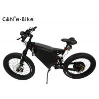 Big Wheel Electric Fat Tire Mountain Bike , High Speed Fat Tire Electric Bicycles Manufactures