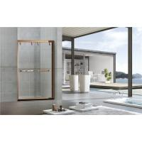 Inline 8MM Double Sliding Bathroom Shower Screen Red Bronze Printed Stinless Profiles Manufactures