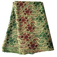 Latest fashion design african cord lace 5 yards polyester embroidery fabrics Manufactures