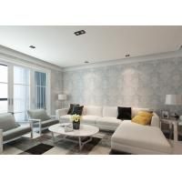 China Ivory White Damask Pattern Victorian Wallpaper for Interior Decoration , Anti - static on sale
