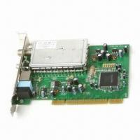 ATSC and NTSC TV Tuner Card with PCI 2.2 Slot Interface, Receives Analog and Digital TV Signals Manufactures