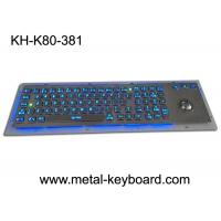 Rugged Backlit Metal Keyboard with Ergonomics Design Trackbal , USB interface Manufactures