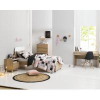 Apartment Furniture Space Saving Bedroom Modern Design of Single Bed with Nightstand in Fashion interior Desk Manufactures
