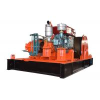 Diesel Engine Driven Hoist Winch 10 Ton Capacity For Construction Manufactures