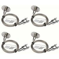 4Pcs 2mm X 6.5 Feet Wire Rope Stainless Steel With Protective Plastic Jacket Assembly Manufactures