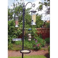 China Heavy Duty Bird Feeding Station With Planter Stand , Patio Bird Feeder Pole Station on sale