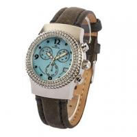 China Luxury Multifunction fashion watches for women , 38.0mm light blue dial on sale