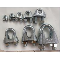 China DIN 741 Wire Rope Clamp , Wire Rope Clips With Malleable Iron Material on sale