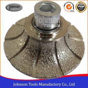 China No.2 Half Diamond Bullnose Router Bit , Bullnose Grinder Wheel HS Code 8467991000 on sale