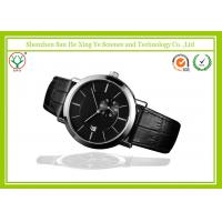 China Polishing Stainless Steel Mens Automatic Watches Black Strap Automatic on sale